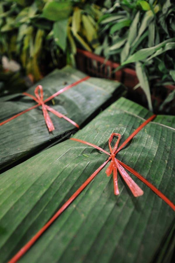 Banaanbladeren stock foto