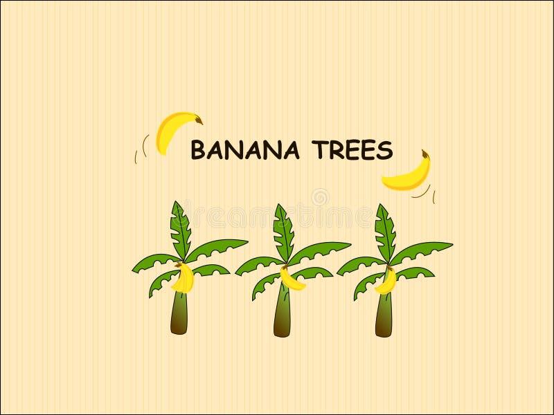 Banaanbomen royalty-vrije stock afbeeldingen
