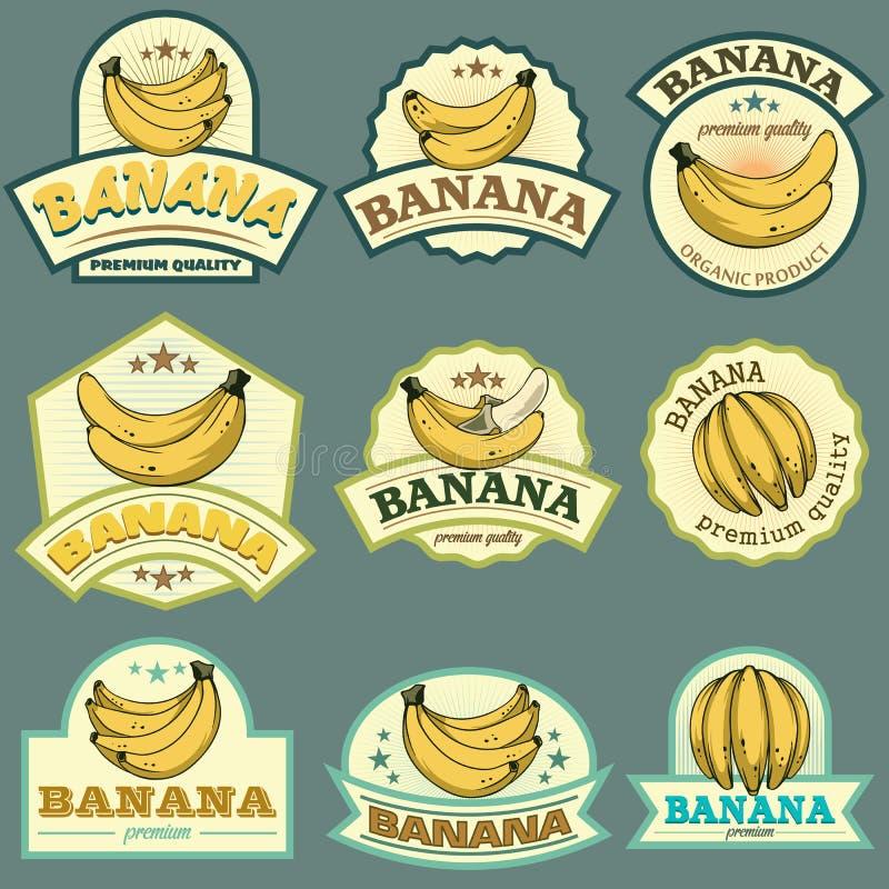 Banaanetiketten royalty-vrije illustratie