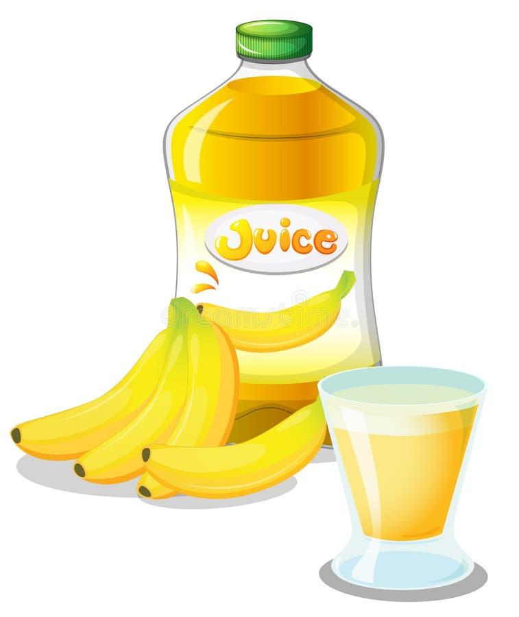 Banaanfruit en sap vector illustratie