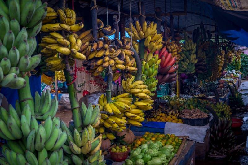 Banaanmarkt stock foto's