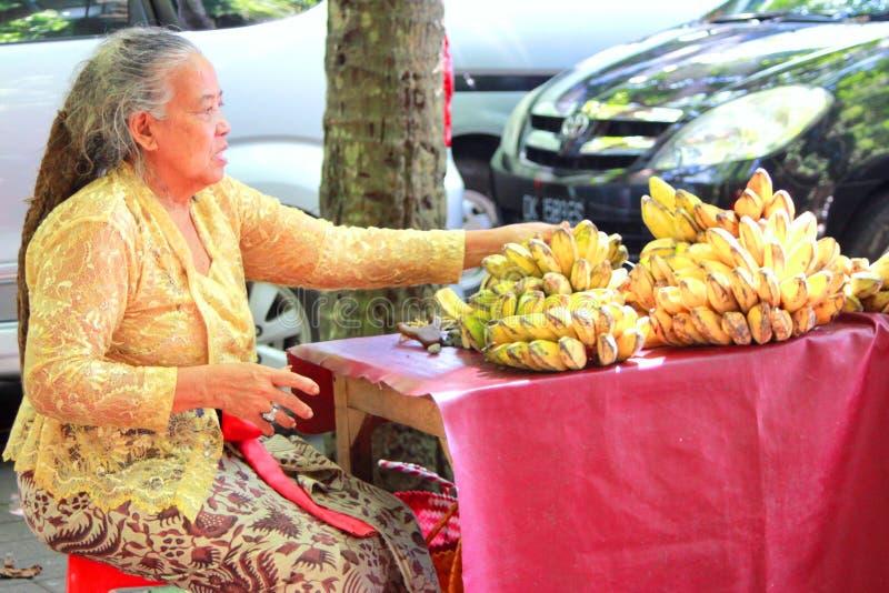 Banaanverkoper stock foto's