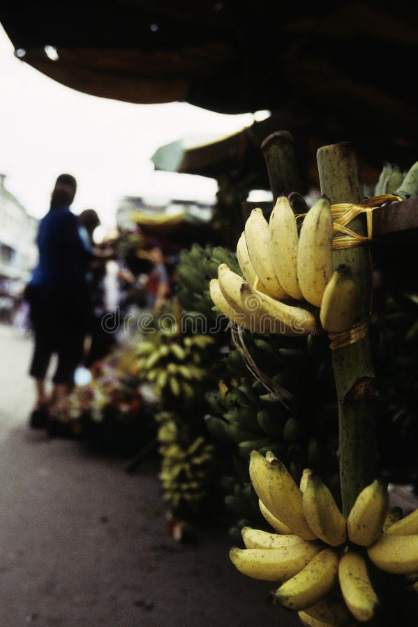 bananów Cambodia targowy penh phnom fotografia stock