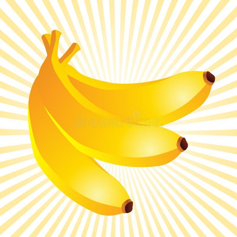 bananów promienie mlejący kolor żółty ilustracji