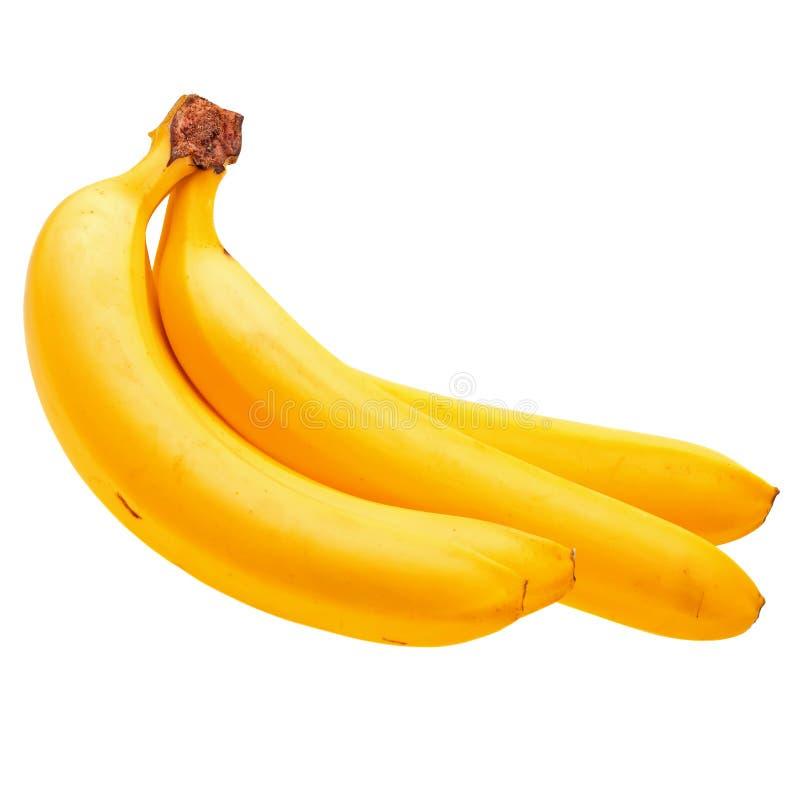 bananów wiązki zakończenia świeży odizolowywający w górę biel zdjęcie royalty free