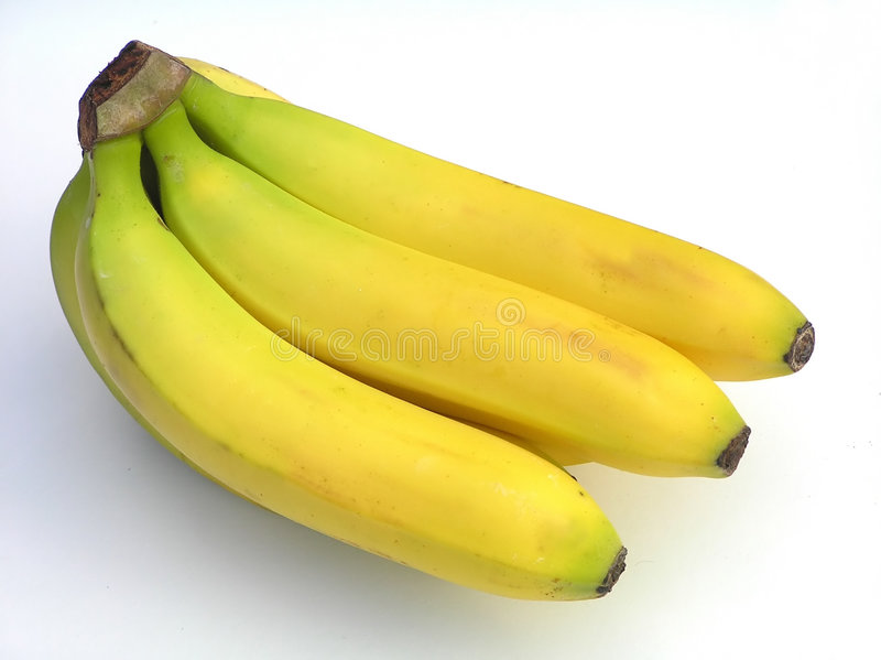 banan kiście żółty obrazy stock