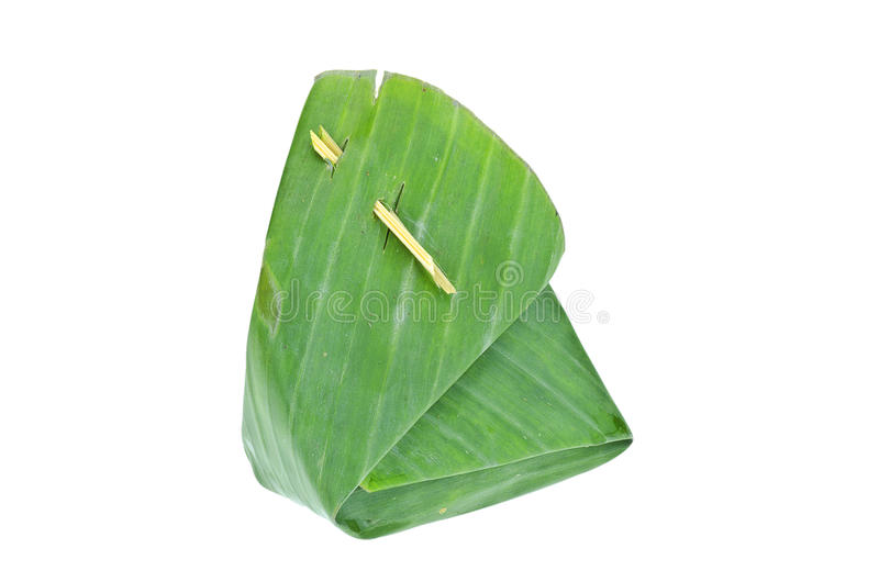 Banan leaf package one. Banan leaf use for packing food royalty free stock photos