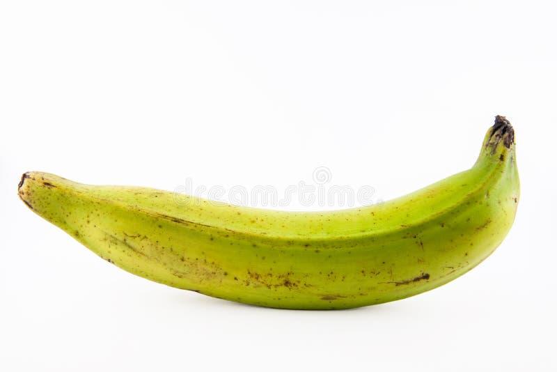 Banan lub zieleń banan odizolowywający w białym tle zdjęcie stock