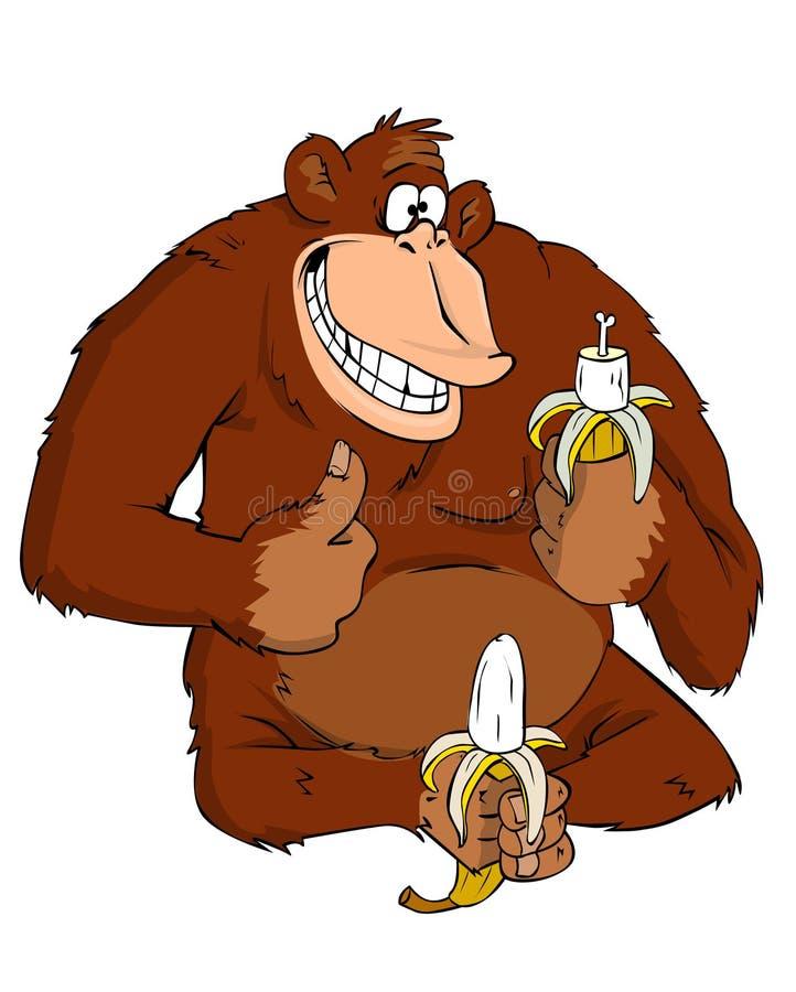 banan małpa ilustracja wektor