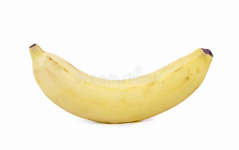 Banan na czystym białym backgound zdjęcie stock