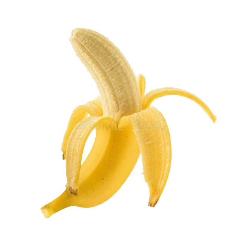 Banan som isoleras utan skugga royaltyfria bilder