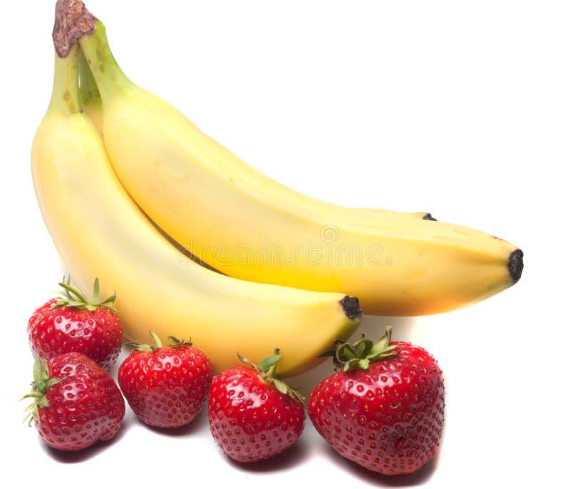banan truskawki obrazy royalty free