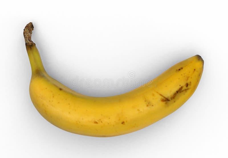 Banan vit bakgrund, urklippbana royaltyfri fotografi