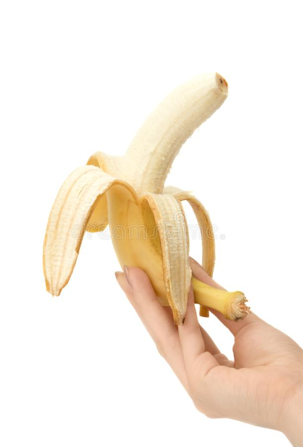Banan W Ręce Bezpłatne Zdjęcie Stock