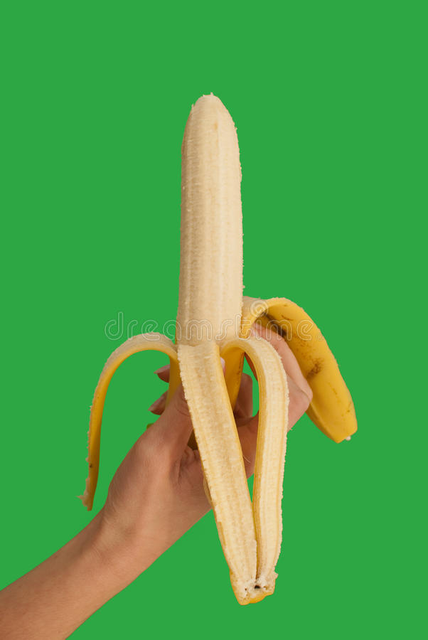 Download Banana stock image. Image of hand, healthy, yellow, macro - 13477253