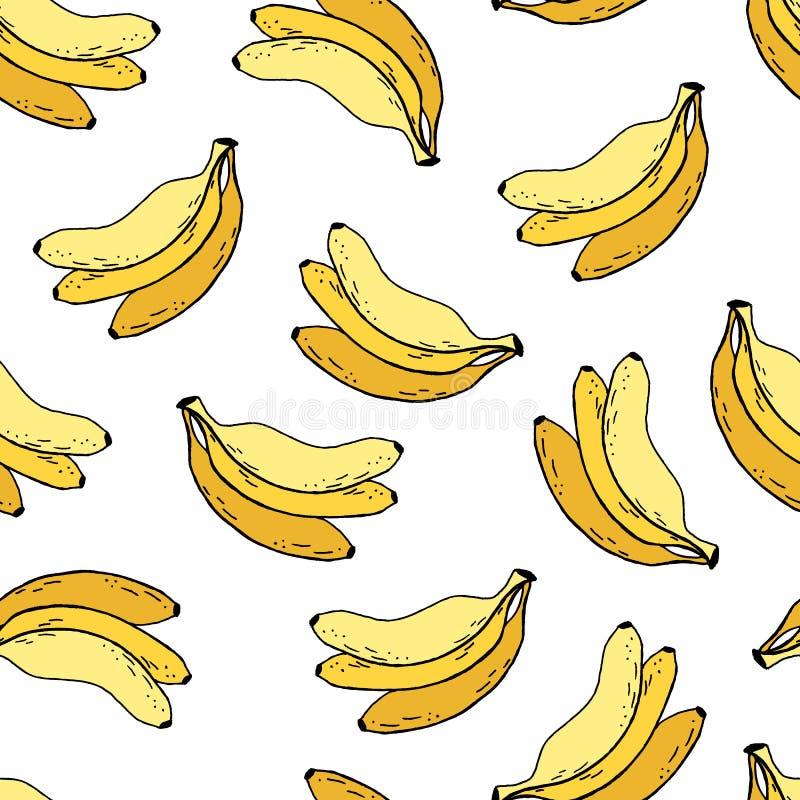 Bananas fruit seamless pattern vector illustration