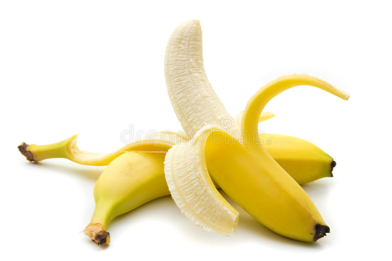 Download Banana stock photo. Image of isolated, path, fruit, white - 25839496
