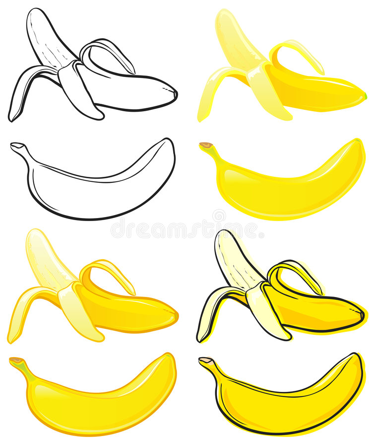 Banana illustrazione di stock