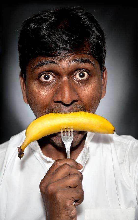 Banana antropófaga indiana fotografia de stock royalty free