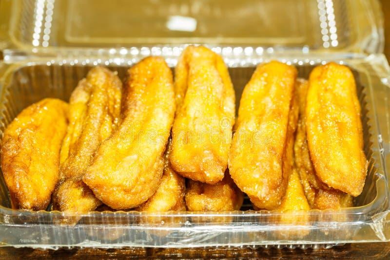 Banana bake Honey in box stock photos