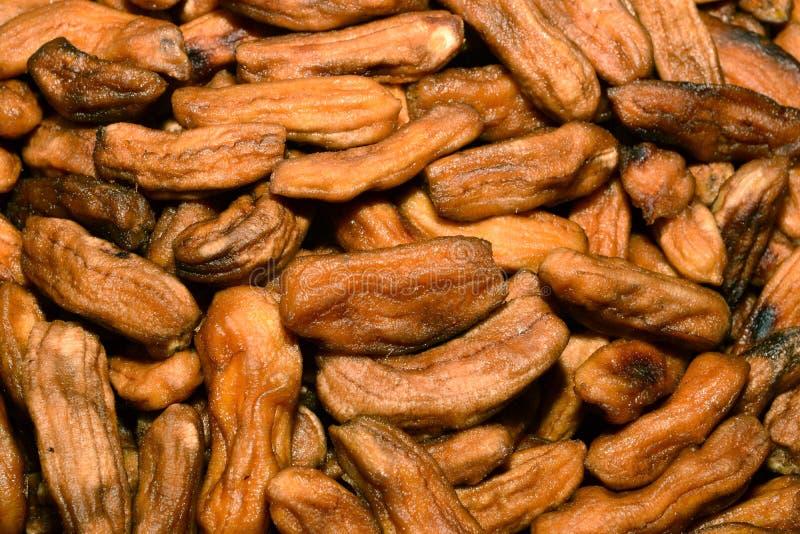 Banana bake with honey stock photos