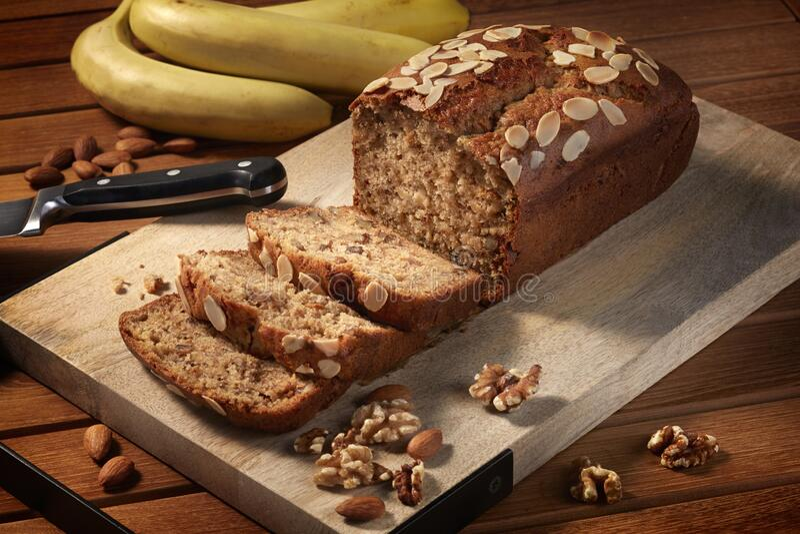 Banana Bread Gluten Free royalty free stock photography