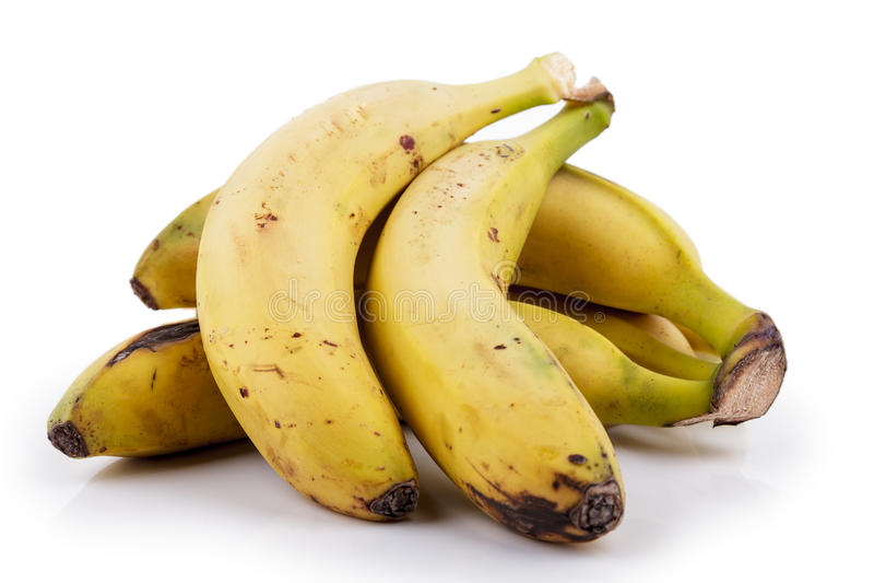 Banana canarina fotografia de stock royalty free