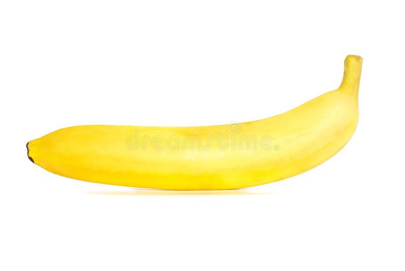 Banana closeup texture isolated on white. Background stock image