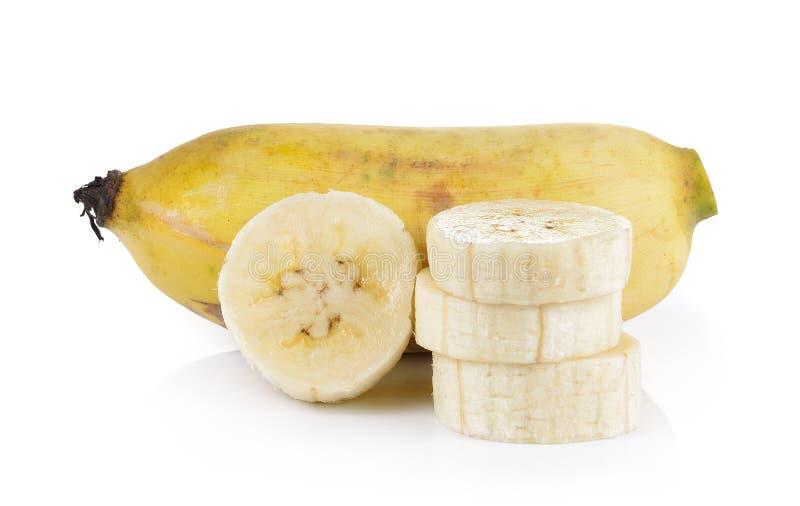 Banana coltivata isolata su fondo bianco immagini stock libere da diritti