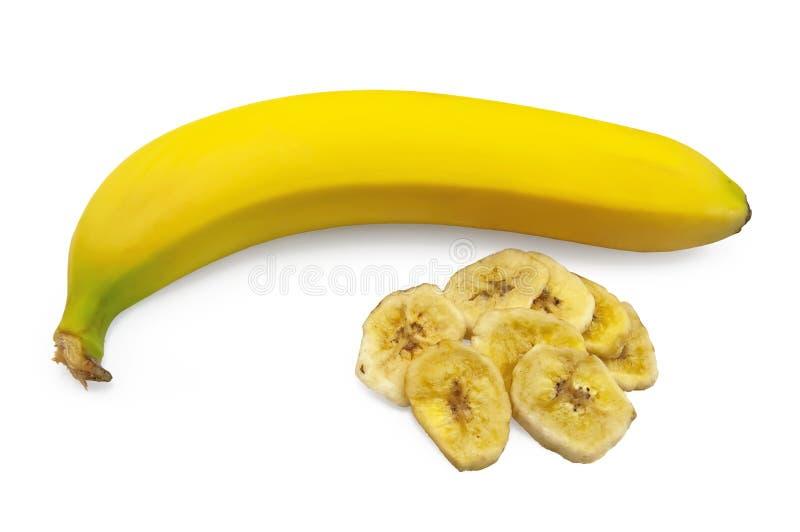 Banana com fruta cristalizada imagens de stock