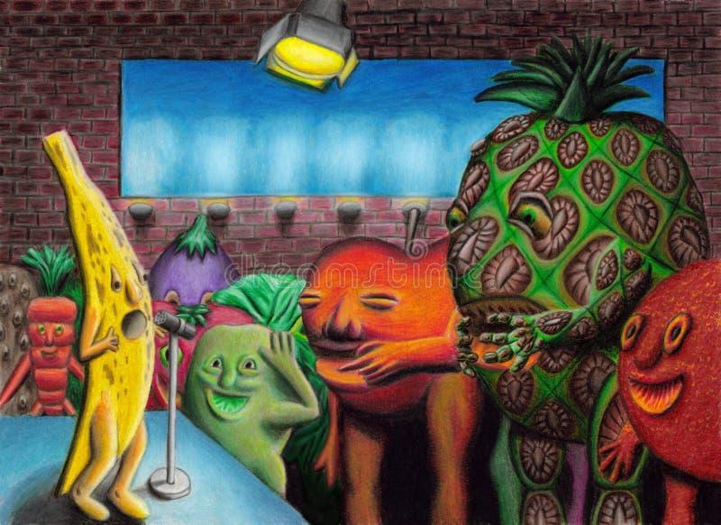 Download Banana Comedy Club stock illustration. Image of orange - 13619804