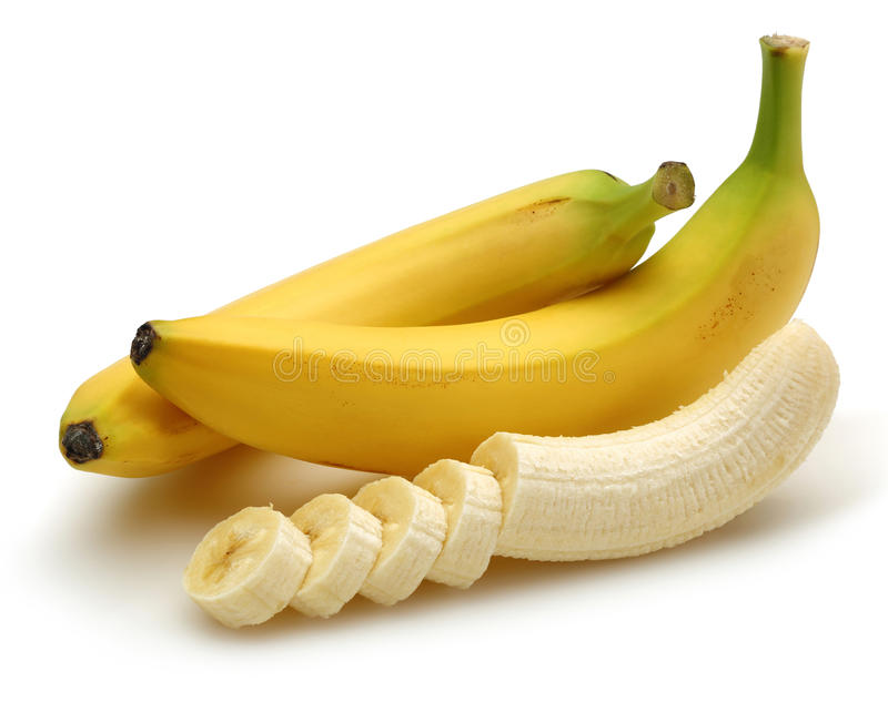 Banana cortada fotos de stock royalty free