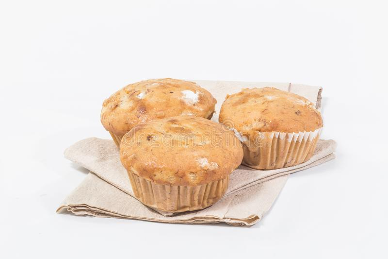Banana cupcake royalty free stock photography