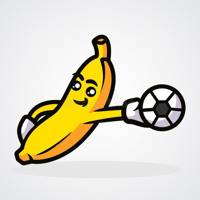 Banana Mascot Stock Illustration. Illustration Of