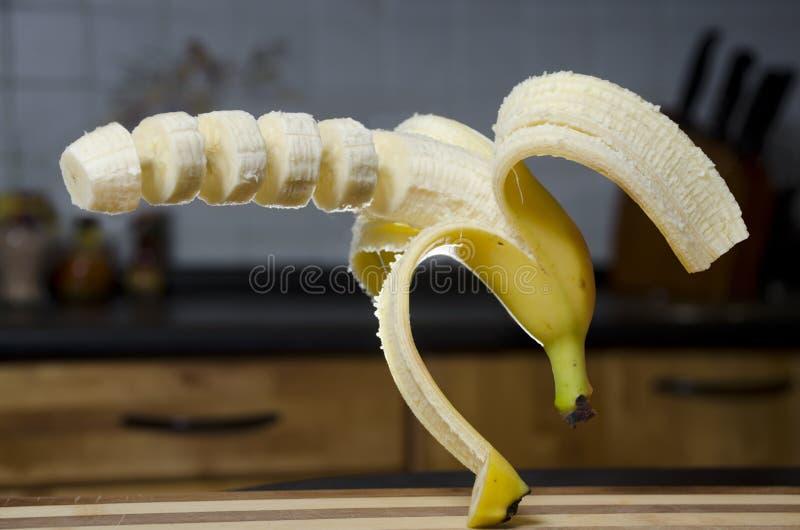 Banana de Cutted fotos de stock royalty free