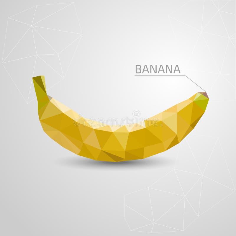 Banana del poligono Illustrazione astratta, origami Vettore illustrazione vettoriale