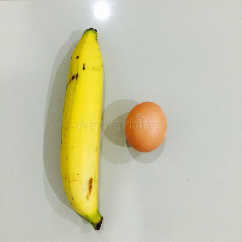 Banana e ovo imagens de stock royalty free