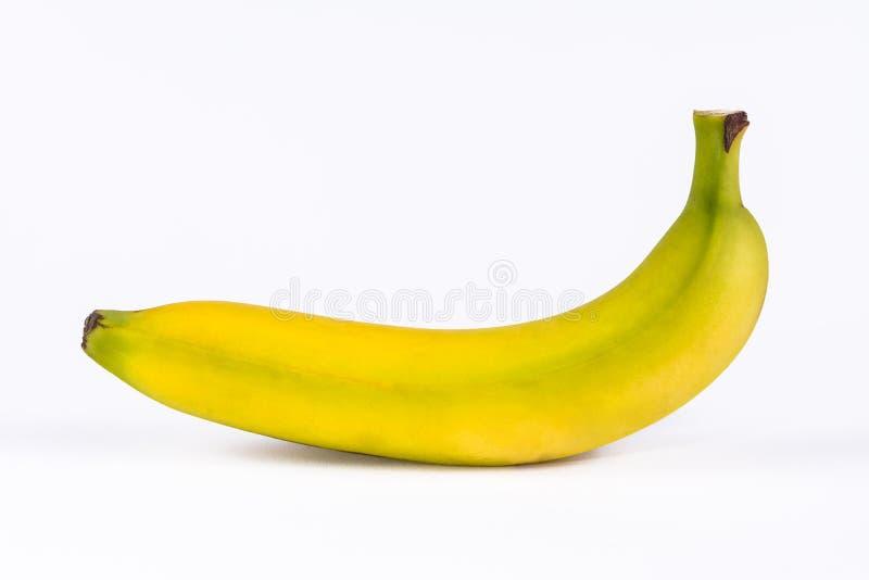 Banana fresca em um fundo branco fotos de stock royalty free