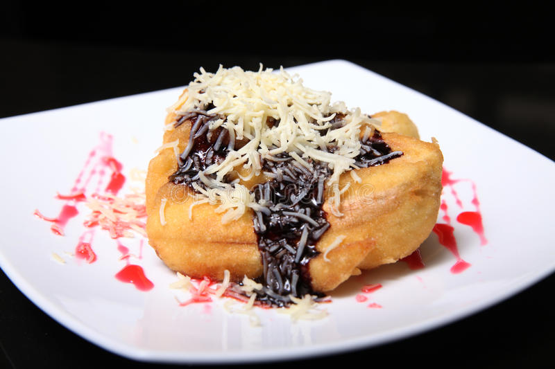 Banana Fried Snack With Cheese Royalty Free Stock Images