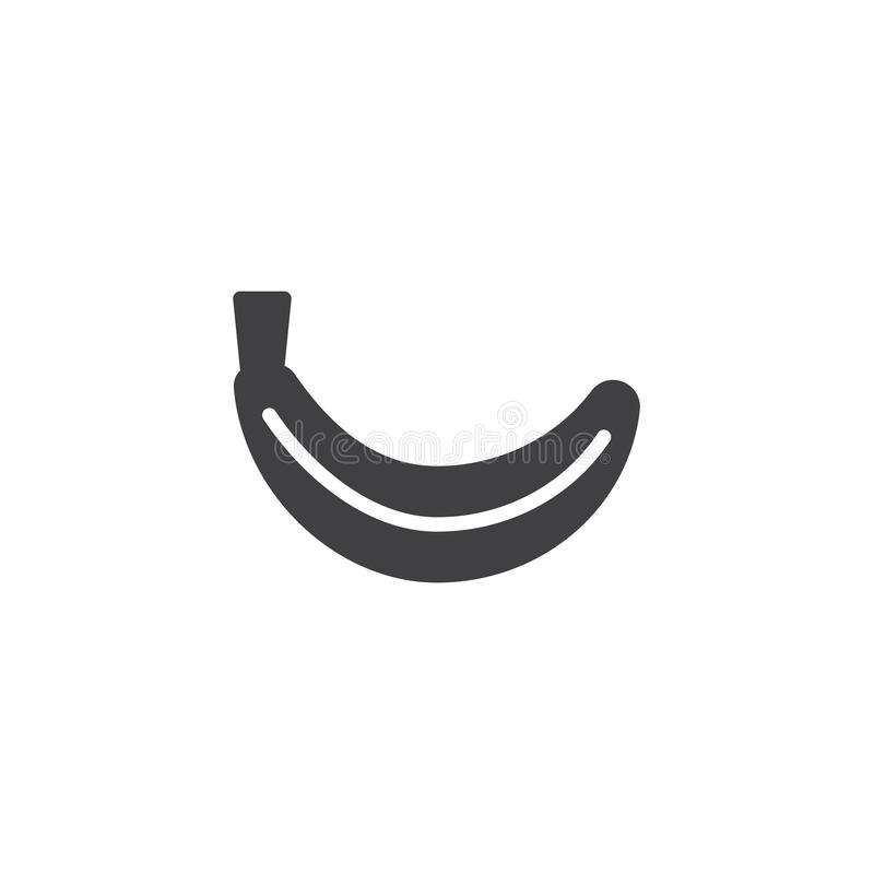 Banana fruit icon vector stock illustration