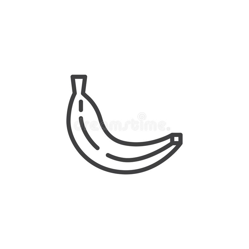 Banana, fruit line icon royalty free illustration