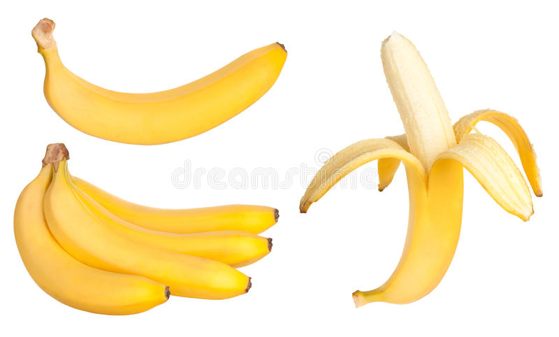 Banana fruits. Isolated on white background