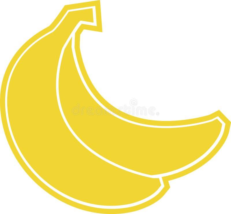 Banana gialla immagini stock