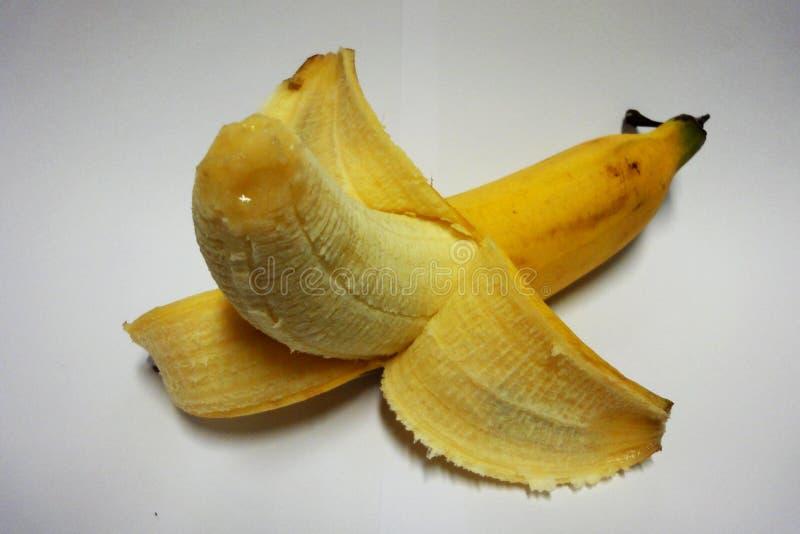 Banana gialla, 1 frutta, alta frutta di nutrizione, energia per il corpo, Asia, Tailandia immagine stock libera da diritti