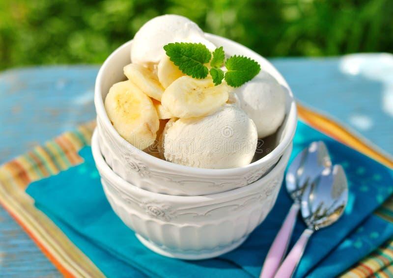 Banana Ice Cream royalty free stock photo
