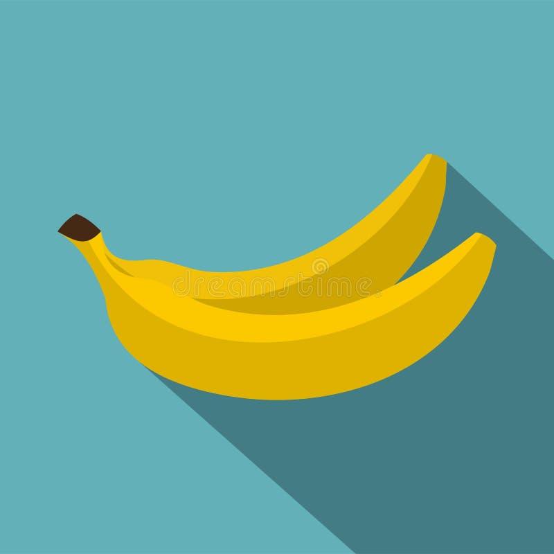 Banana icon, flat style royalty free illustration