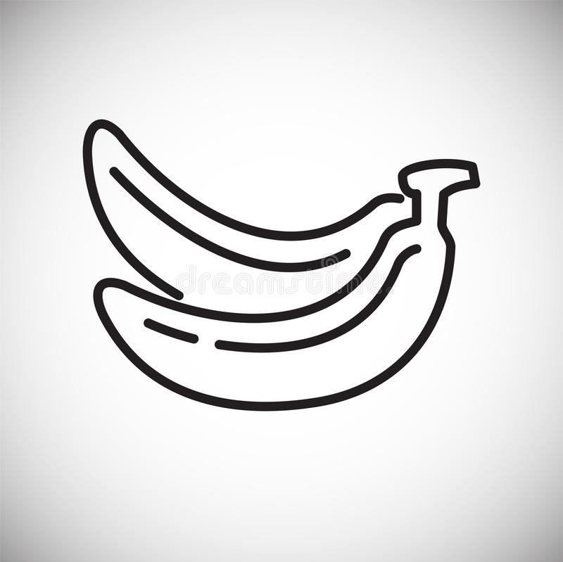 Banana icon on white background for graphic and web design, Modern simple vector sign. Internet concept. Trendy symbol for website vector illustration