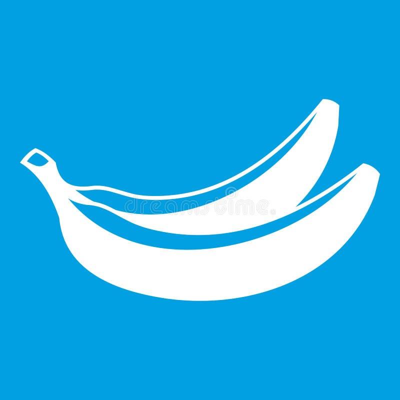 Banana icon white vector illustration