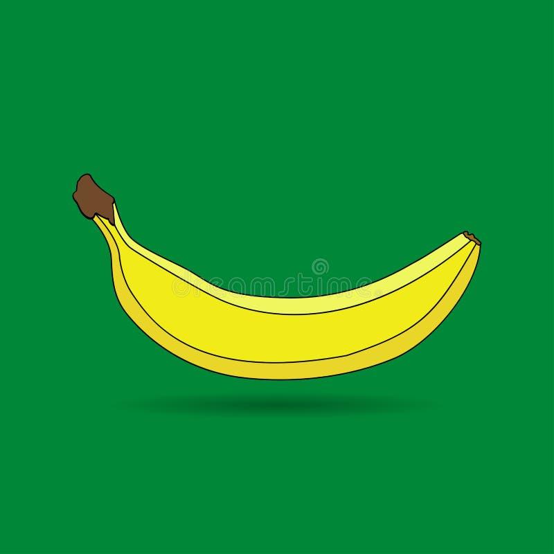 Banana, illustrazione del fumetto di vettore della frutta fotografie stock libere da diritti