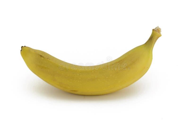 Banana isolada na foto branca do fundo Imagem bonita, vagabundos fotos de stock